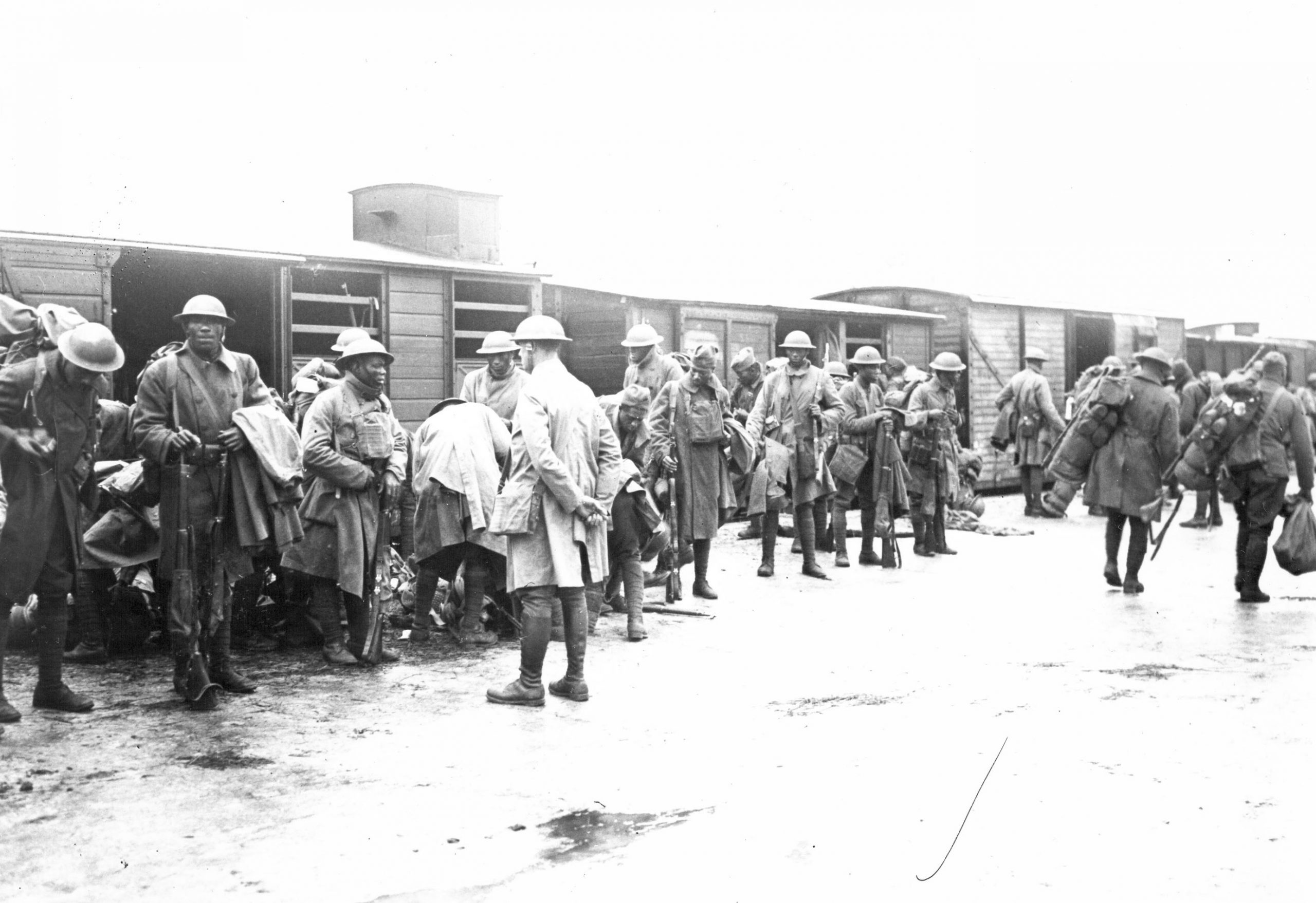 The 369th Regiment travelling in France
