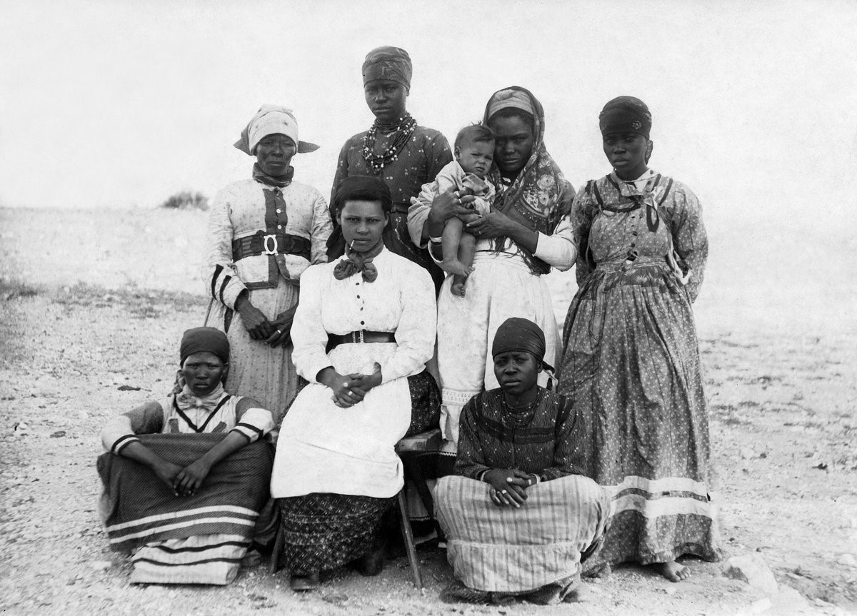 Herero woman in western clothes