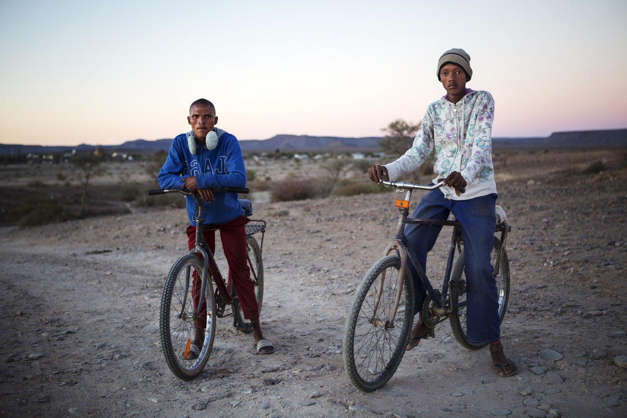 Willie Frederick, 21, and John Jacobs, 20, live in Bethanie, the home of many Nama descendants of survivors.