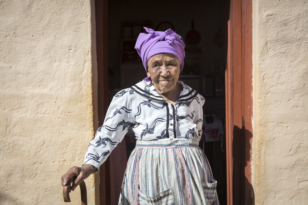 Joanna Jacobs, 92, who lives in the small desert town of Bethanie, says she heard stories from her grandmother about what happened during the genocide but that many survivors were too scared to talk.