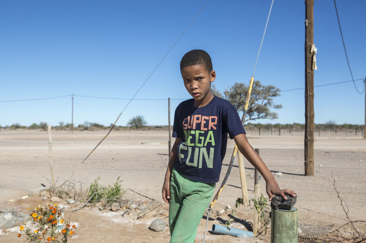 Carlos Gaoe, 9, who is in the third grade in Bethanie, is a Nama descendant of survivors.
