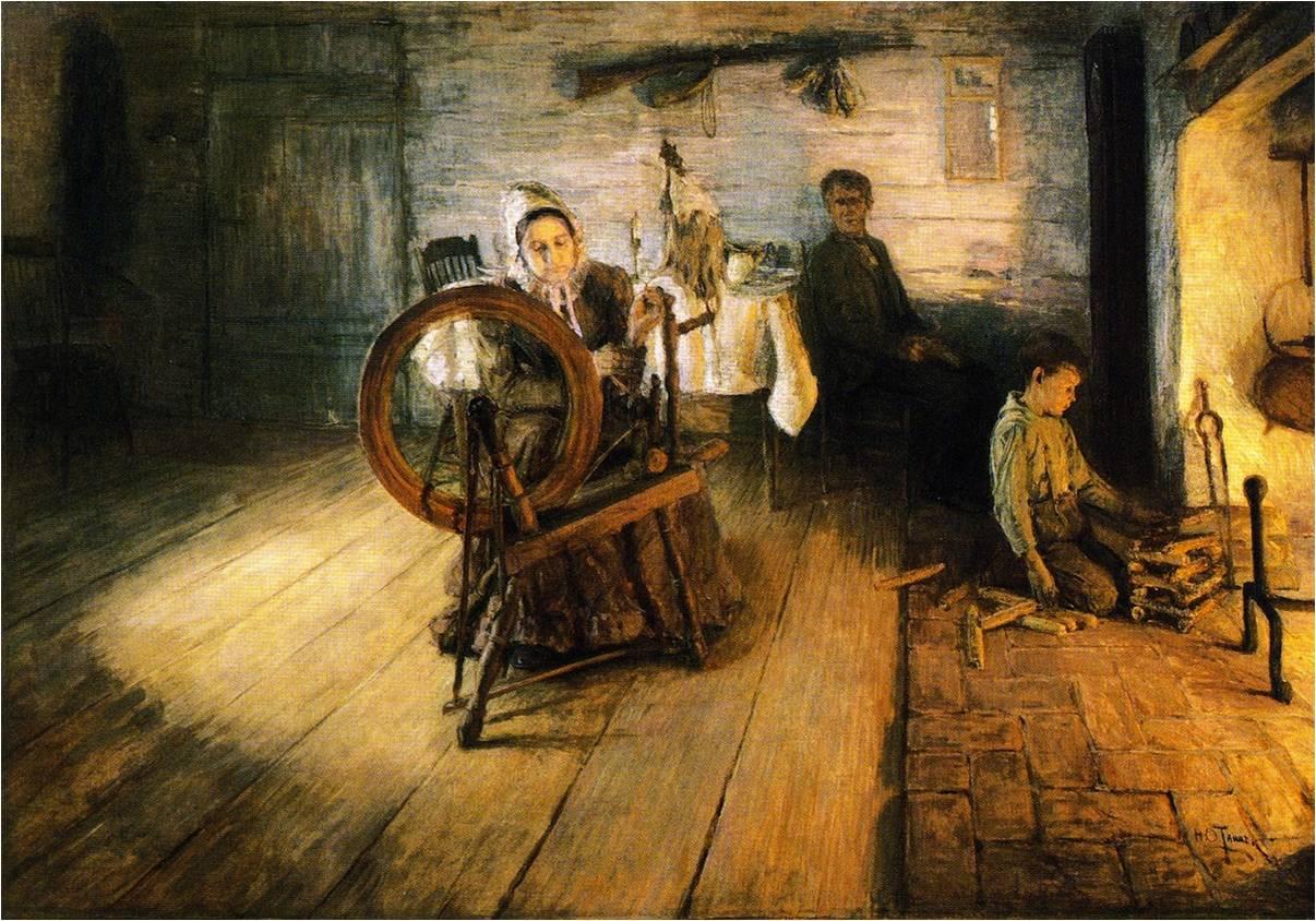 Spinning by Firelight – The Boyhood of George Washington Gray