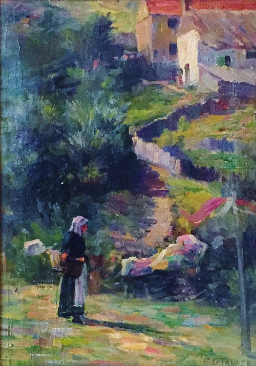 Landscape with female figure